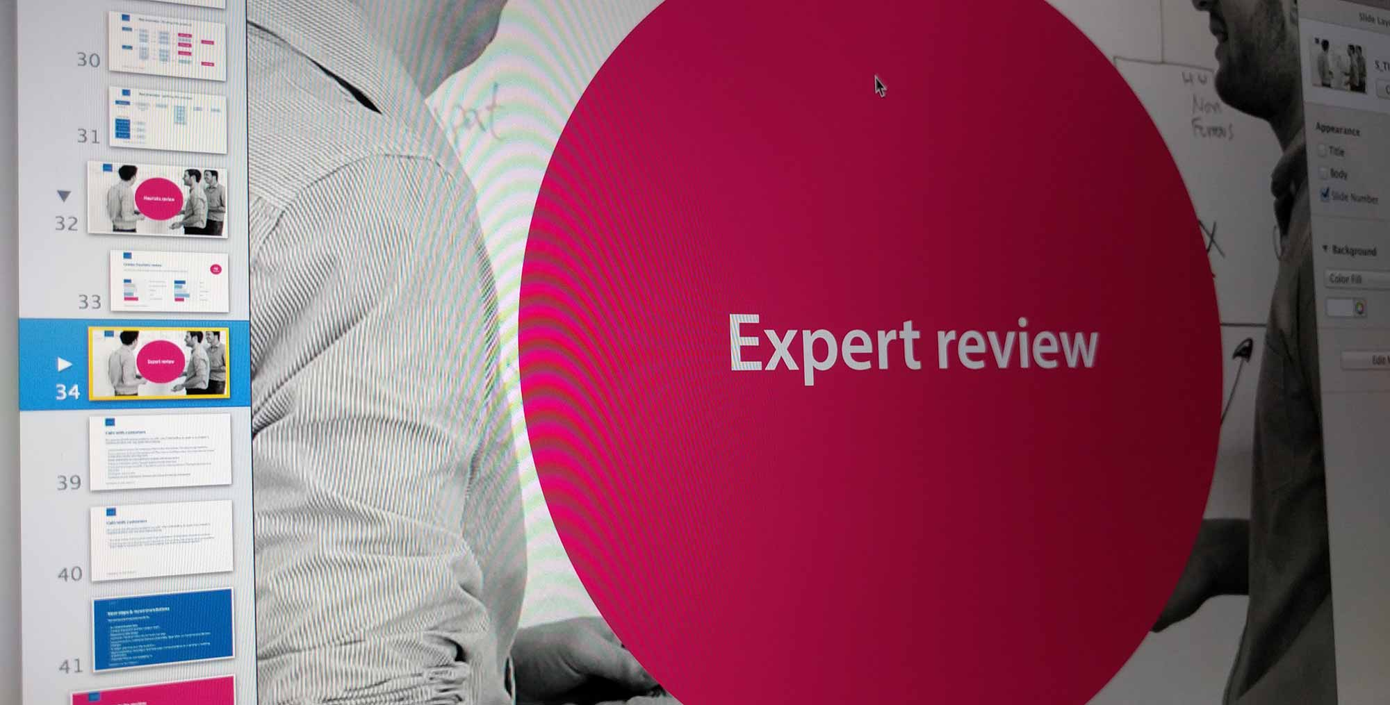 Expert review slides