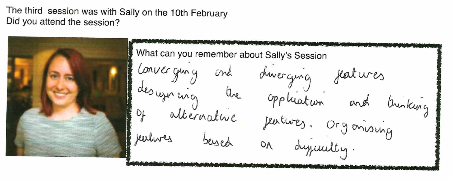 A snippet of feedback provided by one of the students at West Thames College